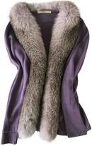 Blumarine Purple Cashmere Jacket for Women
