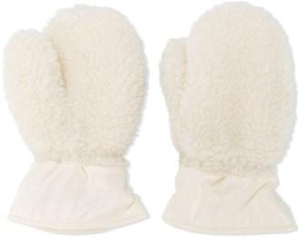 Moncler Enfant Textured Cotton Mittens