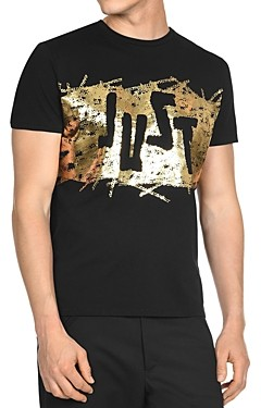 Just Cavalli Just Graphic Logo Tee