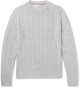 Brunello Cucinelli - Cable-knit Linen And Cotton-blend Sweater