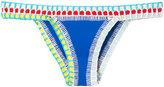 Kiini Embroidered Tuesday bikini bottom - women - Cotton/Nylon/Polyester/Spandex/Elastane - S