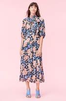 Rebecca Taylor Blush Rose Tie Neck Clip Dress