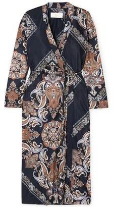 Chloé Belted Crepe De Chine Coat