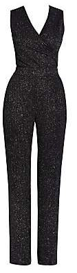 Balmain Women's Sleeveless Glitter Jersey Jumpsuit