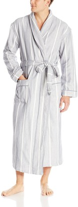 Majestic International Men's Breakers Herringbone Shawl Robe
