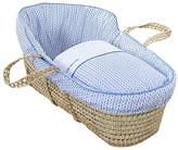 Clair De Lune Barley Bébé High Top Palm Moses Basket - Blue