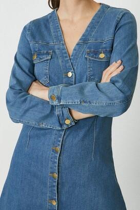 Coast Button Through Long Sleeve Denim Dress
