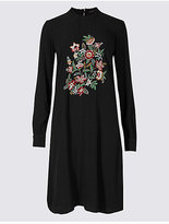 M&S Collection Embroidered Long Sleeve Swing Dress