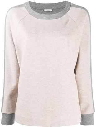 Peserico Two-Tone Crew Neck Sweatshirt