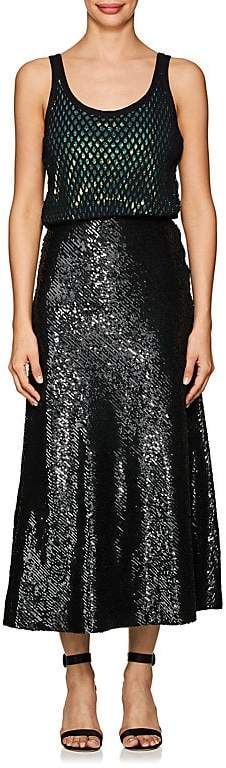 Alexander Wang WOMEN'S BLOUSON SEQUIN TANK DRESS