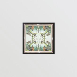 Burberry Monkey Print Silk Small Square Scarf