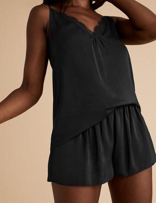 Marks and Spencer Satin Pyjama Shorts