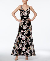 Xscape Evenings Floral-Embroidered A-Line Gown
