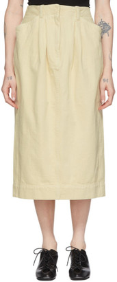 Lemaire Off-White Denim Baggy Skirt