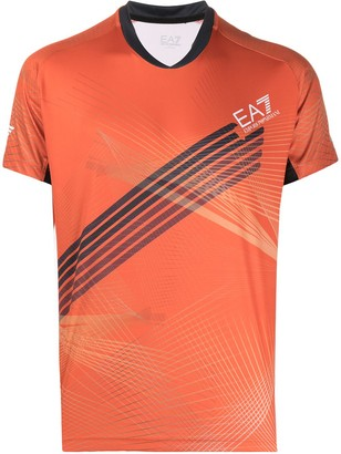 Ea7 Emporio Armani sports printed T-shirt