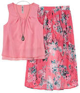 Knitworks Knit Works Chiffon Tank Top with Floral Walk Thru Skirt Set - Girls' 4-16 & Plus