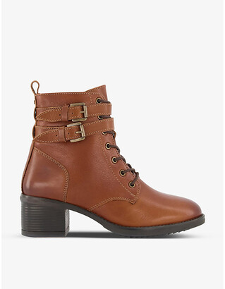 Dune Paxan lace-up heeled leather boots