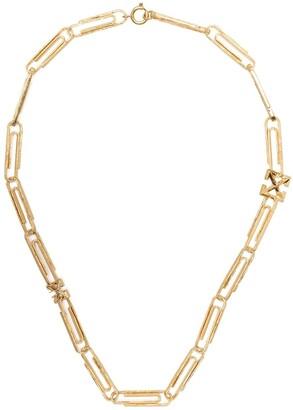 Off-White Arrows-motif paper-clip necklace
