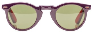 Isaia 44MM Round Square Sunglasses