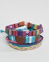 Asos Bracelet Pack In Multi Color