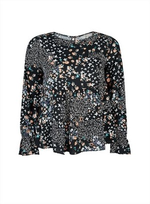 Dorothy Perkins Womens **Billie & Blossom Petite Multi Colour Butterfly And Floral Print Top
