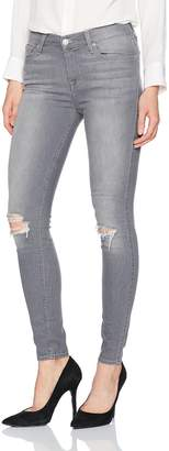 7 For All Mankind Women's Ankle Gwenevere Skinny Jean with Destroy in Grey Skies