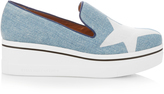 Stella McCartney Binx star-print denim flatform loafers