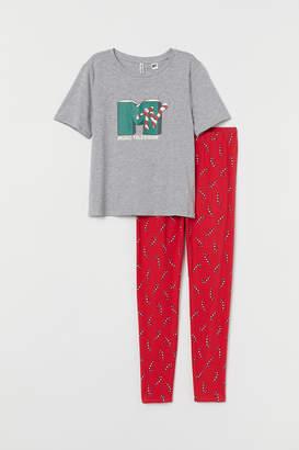 H&M Pajama Top and Leggings