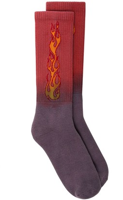 Palm Angels Flames print socks