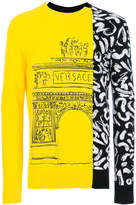 Versace Demi Arco-Scribble embroidery sweater