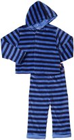 Magnificent Baby Velour Hoodie Set (Toddler) - Blue-4T