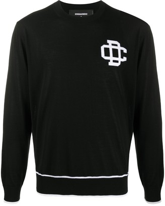 DSQUARED2 Logo Motif Knitted Sweater