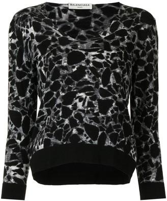Balenciaga Pre-Owned Leopard Print Jumper