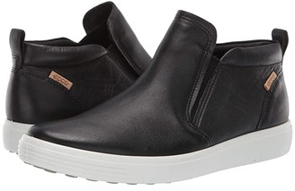 Ecco Soft 7 Slip-On Boot (Black Cow Leather) Women's Boots