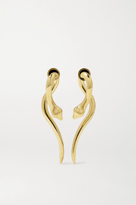 Ileana Makri Boa 18-karat Gold Earrings - one size