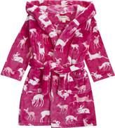 Hatley Deer & bunny print dressing gown s-xl