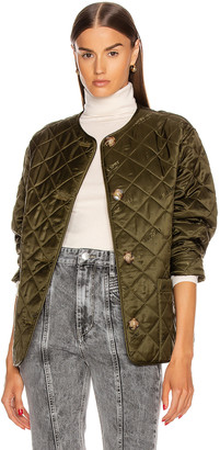 Burberry Bardsey Print Jacket in Olive | FWRD