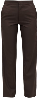 Edward Crutchley Cropped Slim-leg Wool-crepe Trousers - Brown