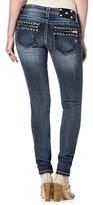 Miss Me Junior's Studded Zipper Skinny Jean