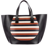 Victoria Beckham 2016 Striped Leather Tote