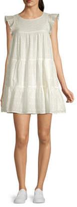 My Michelle Short Sleeve Babydoll Dress-Juniors