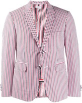 Thom Browne RWB Seersucker Striped Blazer