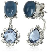 "lonna & lilly Bead Brilliance"" Silver-Tone and Blue Floater Earrings Jackets"
