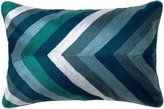 Loloi DSETP0141BBMLPIL5 DSET Linen and Cotton Cover with Down Fill Decorative Accent Pillow