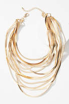 Anthropologie Snake Chain Layered Necklace