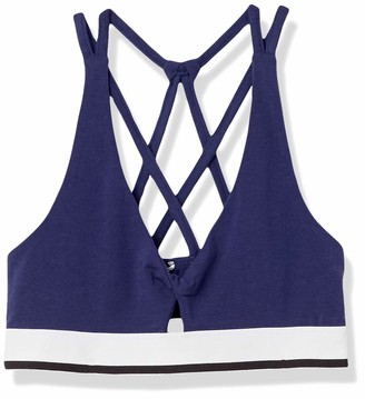 Mae Amazon Brand Women's Cotton Strappy Back Light Support Bralette (for A-C cups)