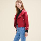 Maje Vintage-style leather jacket