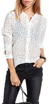 Hush Alessia Star Shirt, White/Black