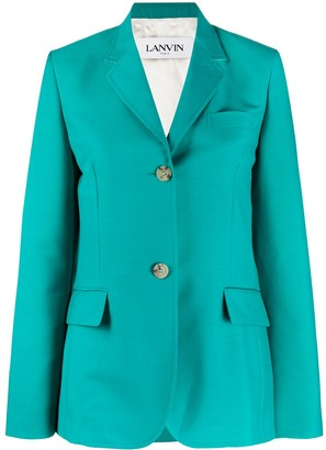 Lanvin Oversized-Sleeve Single-Breasted Blazer