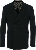 Tonello double-breasted fitted suit jacket